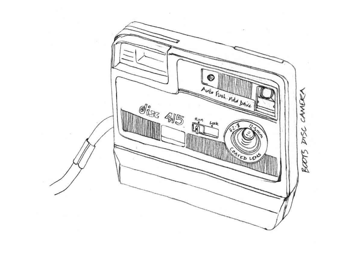 Line Drawing Panasonic Lumix Fs 14 Camera