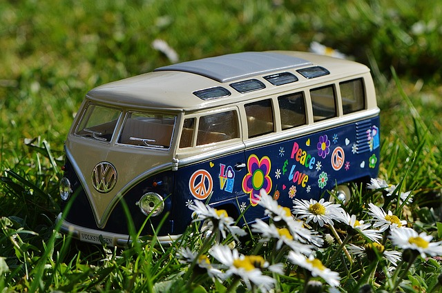 Peace Love Toy VW Bus