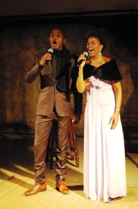 The opera duo who entertained us at dinner
