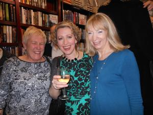 With Gill and Louise Beech at the launch party for In Her Wake