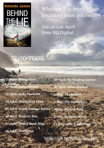 Blogtour #review #launch: Behind the Lie by Amanda James @akjames61