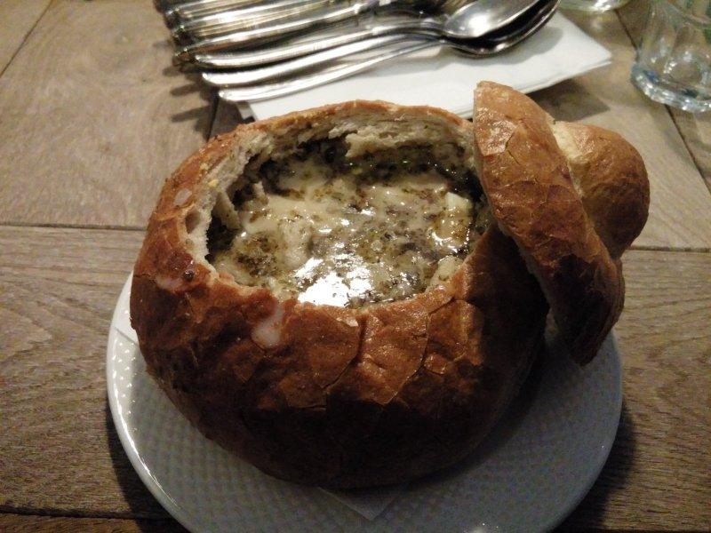 Zurek soup in a bowl of bread