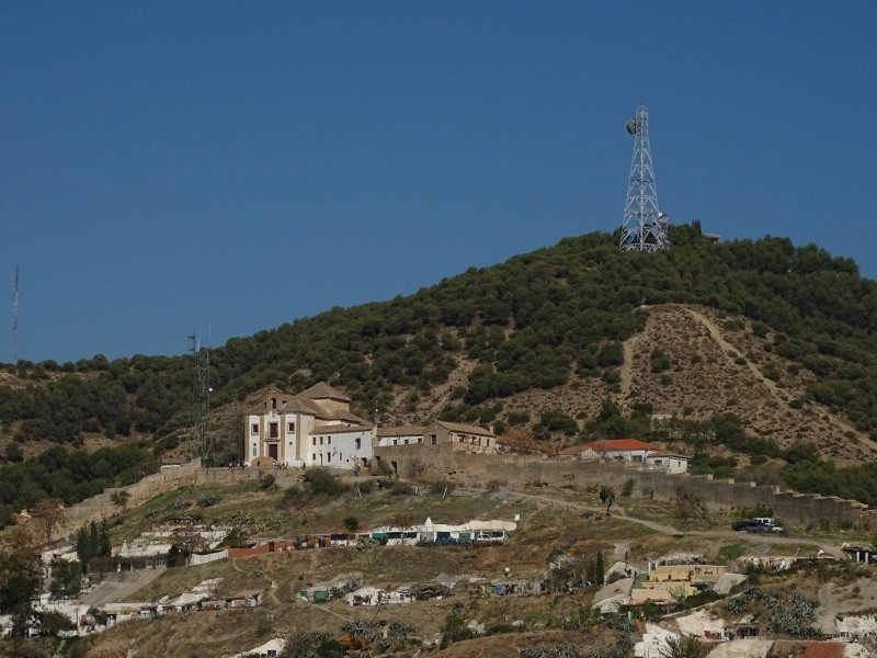 Albaicín hill with the Mirador San Miguel Alto monastery and viewpoint