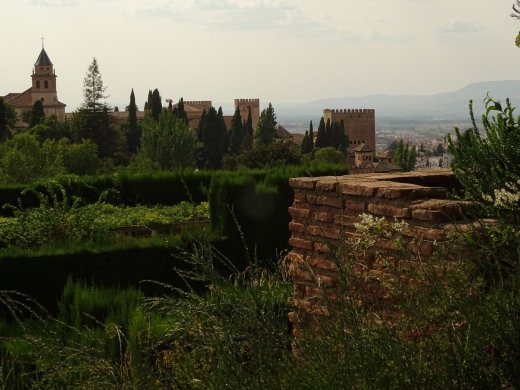 View of The Alhambra from The Generalife Gardens