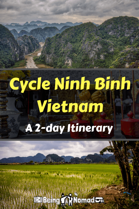 These 2 DIY Ninh Binh bicycle tours give you all the information you need to travel Ninh Binh, Vietnam, including where to stay, where to hire bikes, what to see, and where to eat. #ninhbinh #visitvietnam #ninhbinhvietnam #cyclevietnam