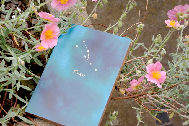 Personalised horoscope notebook for creative ideas
