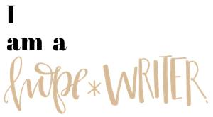 I am a hop*writer