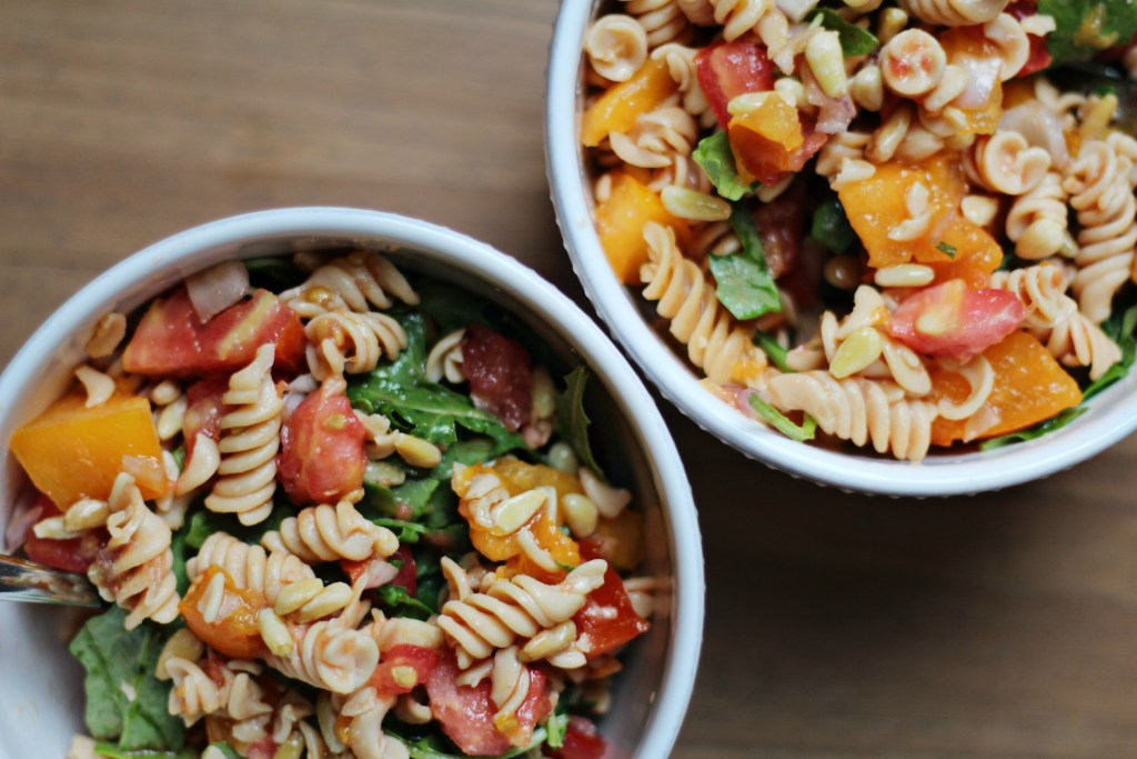 Arugula Lentil Pasta Salad