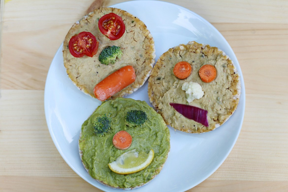 Veggie Faces for Kids from BeingBrigid