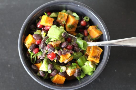 Pomegranate Sweet Potato Salad