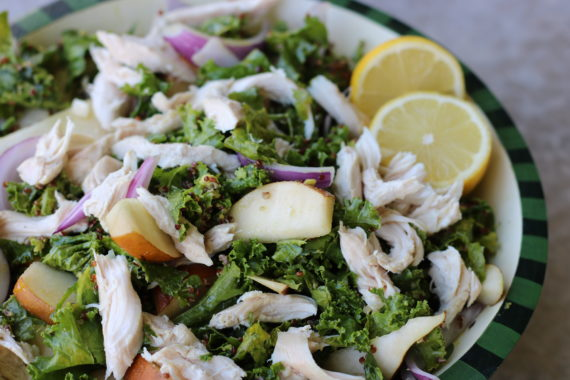 Kale Pear & Lemon Chicken Salad