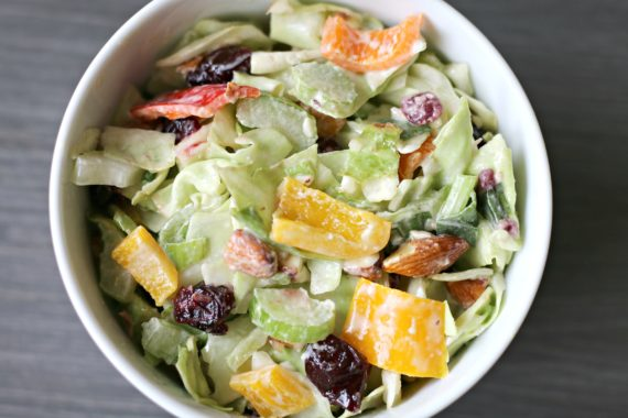 Cranberry Almond Coleslaw
