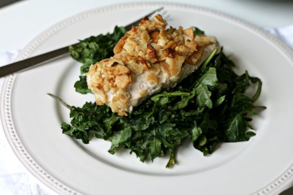 Garlic Crusted Chicken-N-Kale