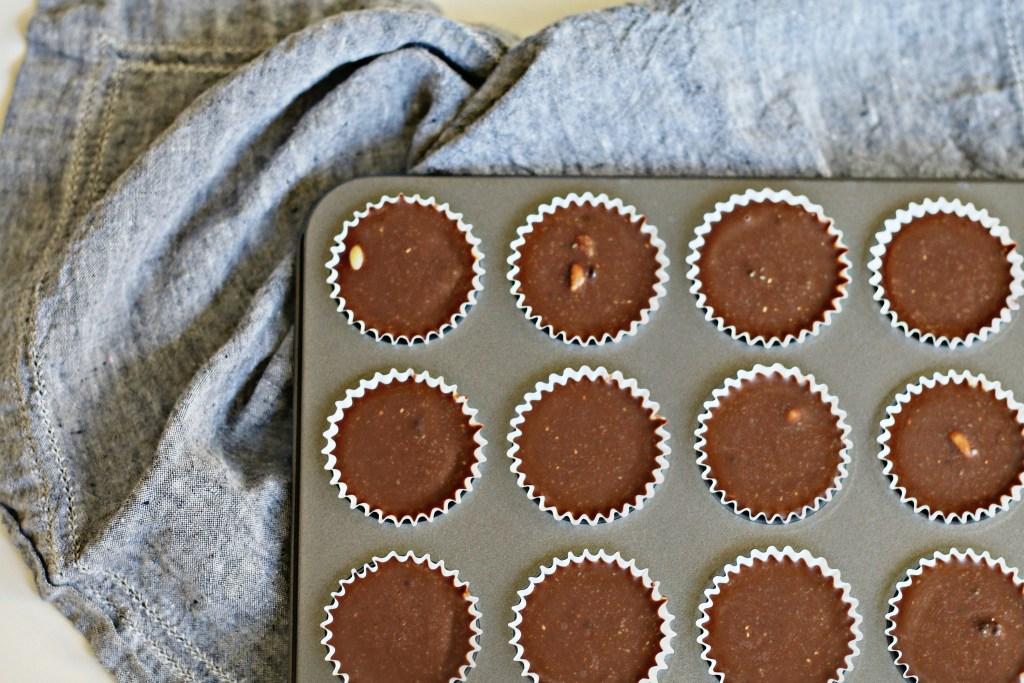 Chocolate Peanut Butter Cluster Cups BeingBrigid