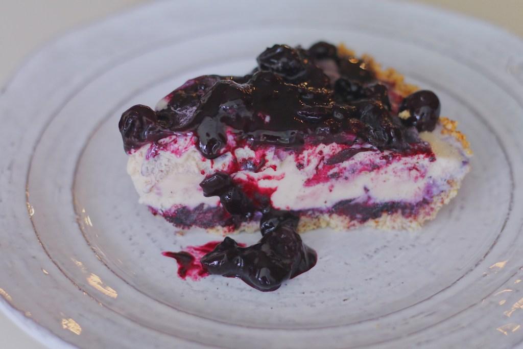 BeingBrigid Pegan Blueberry Ice Cream Pie