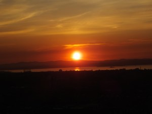 Sunset view from Calton Hill