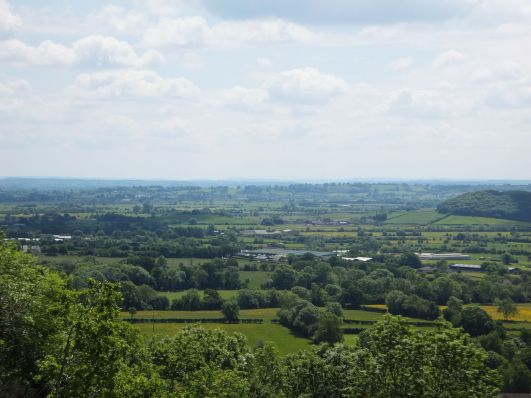 A view of the somerset levels