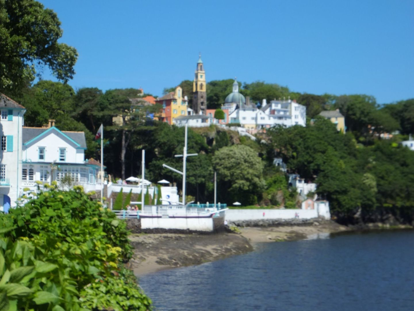 Village of Portmeirion from a distance