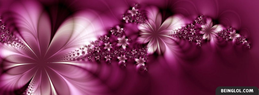 Stylish Emo Girl Wallpapers Pink Flower Effect Facebook Cover Timeline Banner Photo