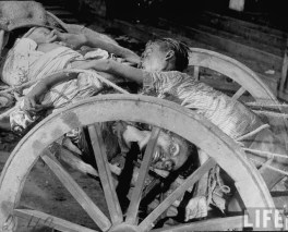 Corpses lying in a cart on their way to be cremated after bloody rioting between Hindus and Muslims Calcutta (Kolkata) 1946