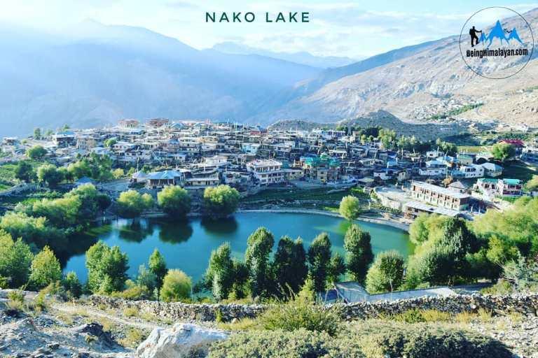 Nako village and Nako Lake