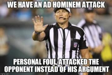 Ad-hominem-referee