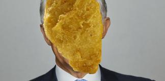 Pictured: Malcolm Turnbull (Prime Minister of Australia) with a Chicken McNugget superimposed onto his face.