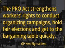 Pro Act, Union, Unions