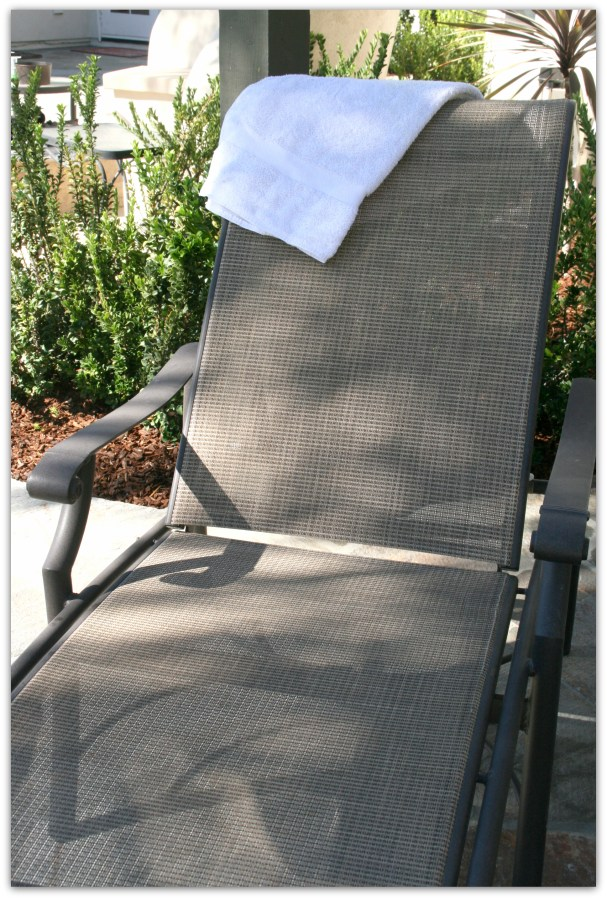 a lounge chair awaiting a tired mother