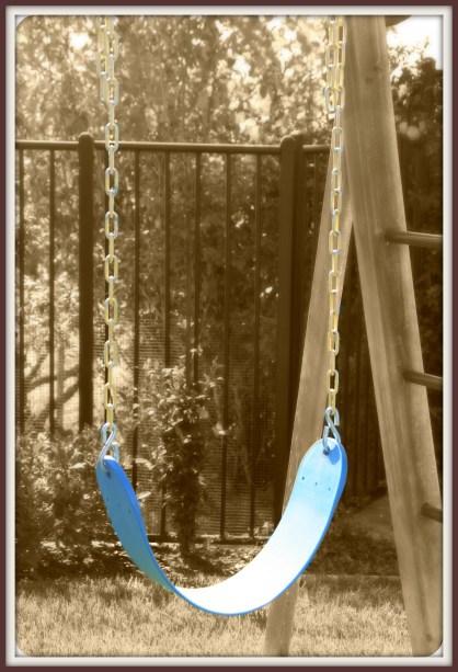a lone swing