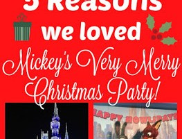 5 Reasons to go to Mickey's Very Merry Christmas Party!