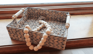 DIY Wood Bead Garland for Home