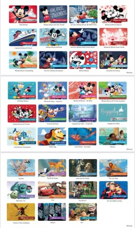 Disney Gift Card Designs