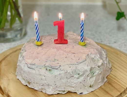 1st birthday smash cake Square for blog feature image