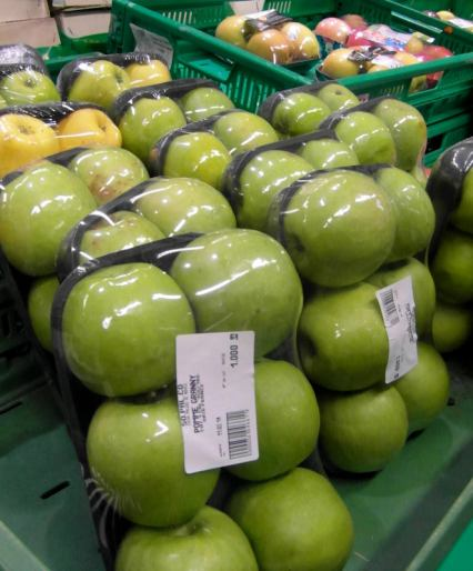 All that plastic for a few apples?