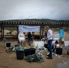 Orginised beach cleaning & educating
