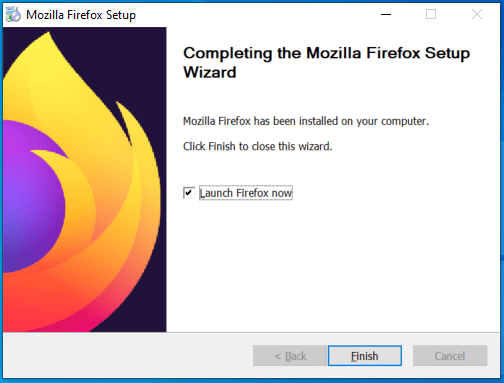 You have successfully installed Mozilla Firefox