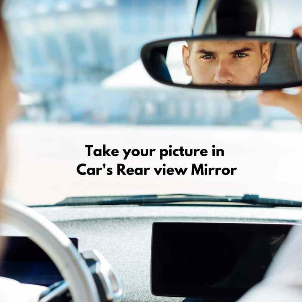 Whatsapp DP with Rearview mirror
