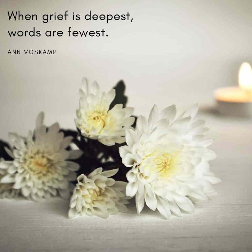 ann voskamp quote on grief