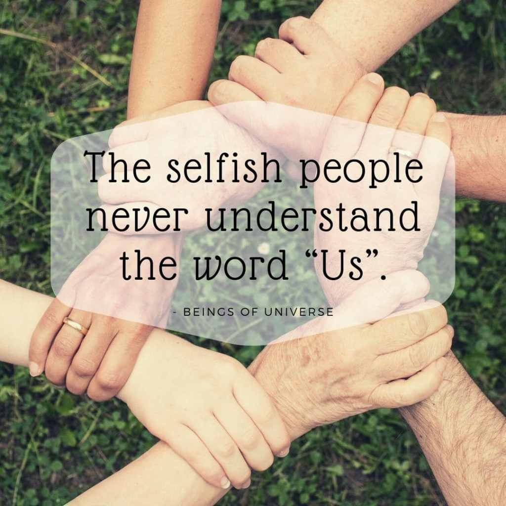 selfish people quote