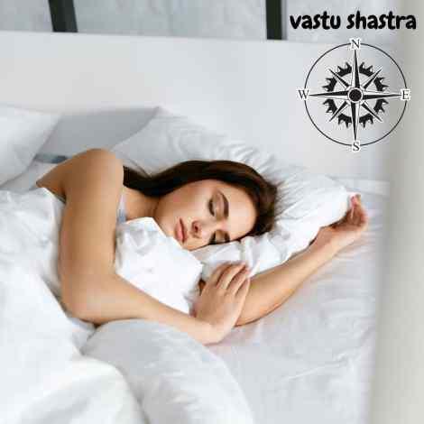 sleeping direction vastu shastra