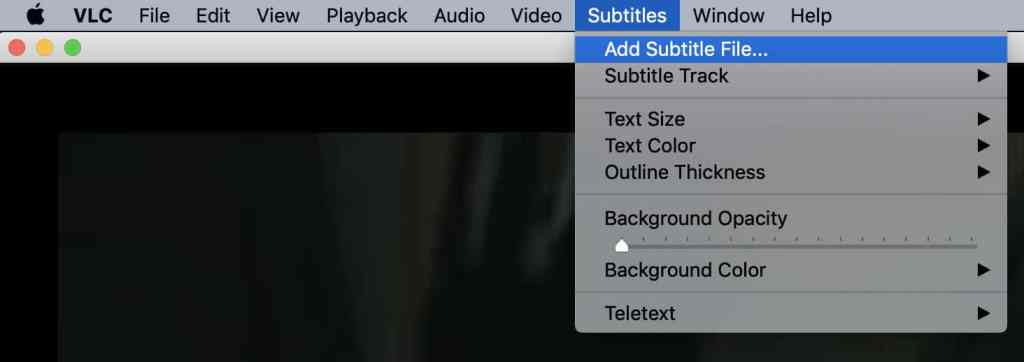 parasite with subtitles in vlc media player
