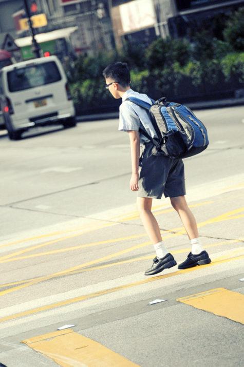 heavy school bag child