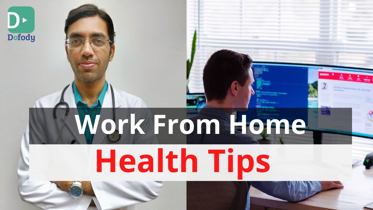 9 Health Tips for Persons Who Work From Home | let's Control COVID-19 | Video