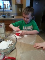 measuring the corn starch