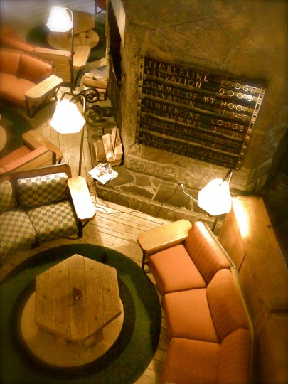 A warm hearth at the Timberline Lodge on Mt. Hood. Photo by Tim Graves