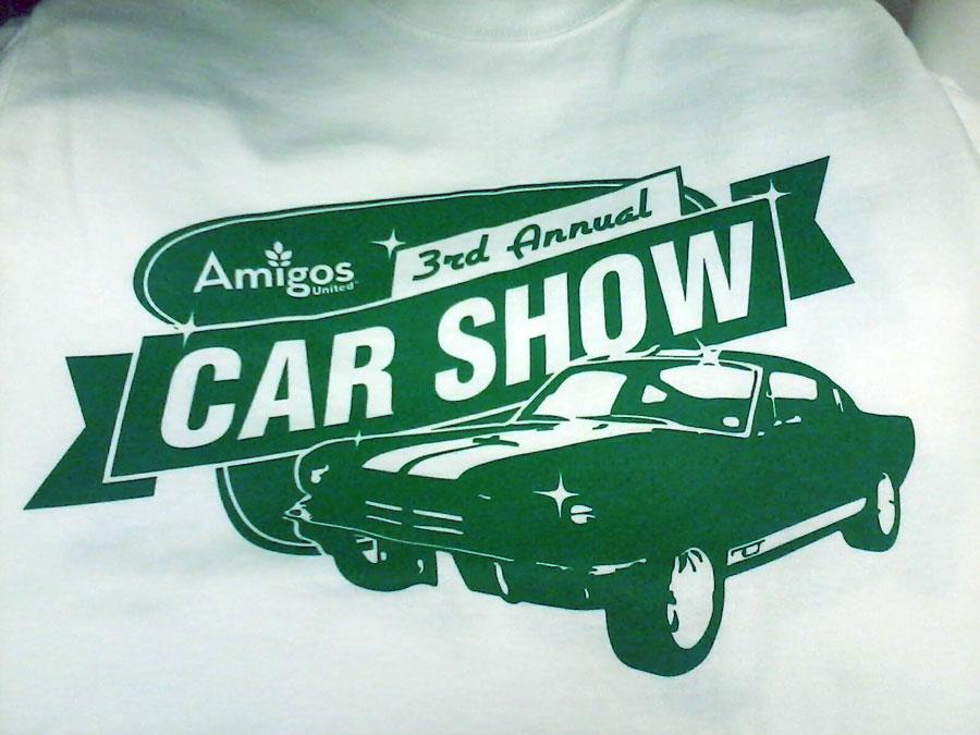 Amigos 3rd Annual Car Show Tshirt  beingtyler