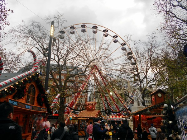 Leicester Square in Christmas