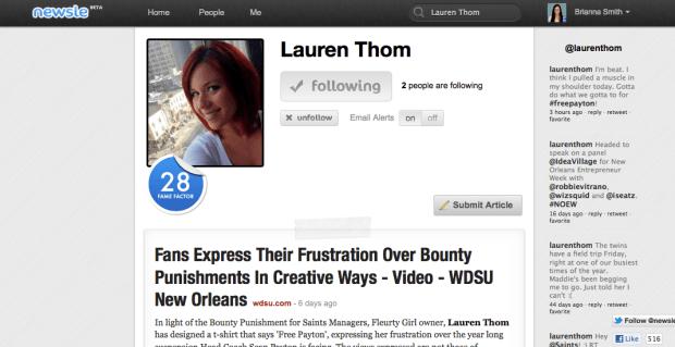 Newsle Profile Lauren Thom