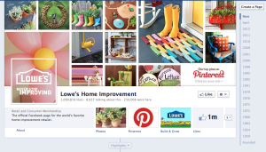 Lowes Facebook Page